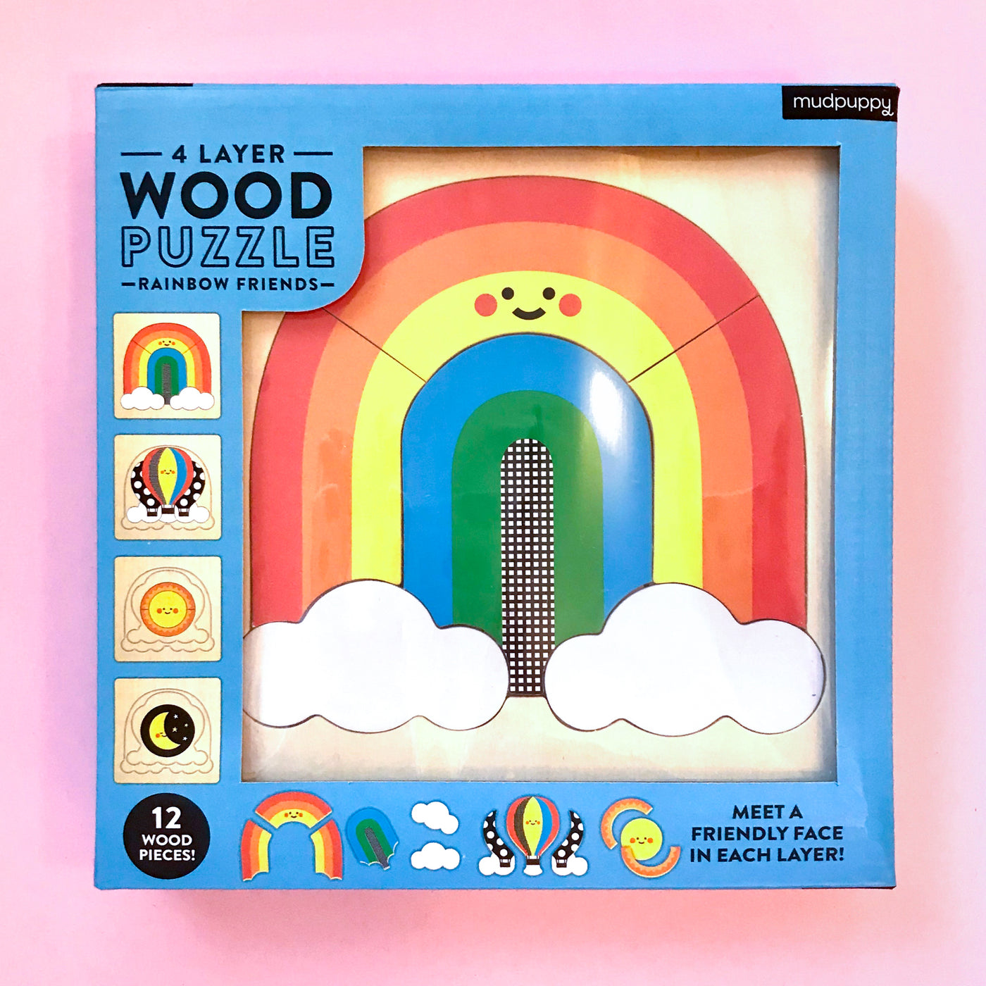 Rainbow Friends Wood Puzzle by Mudpuppy
