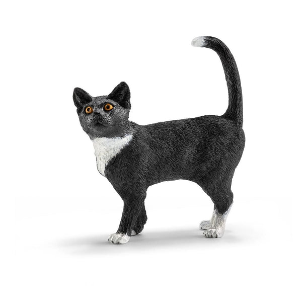 Schleich Farm World Black Cat Standing Toy Figurine