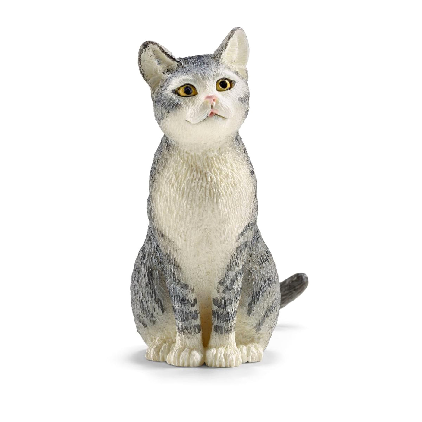 Schleich Farm World Sitting Grey Cat Toy Figurine