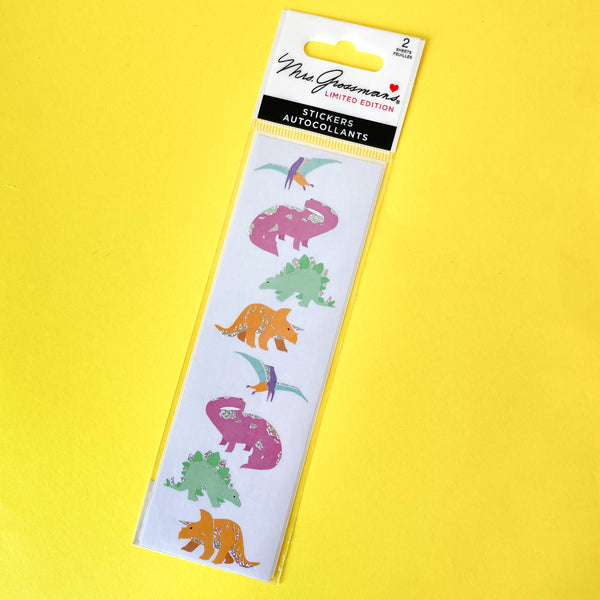 Fancy Dinosaur Stickers by Mrs. Grossman's