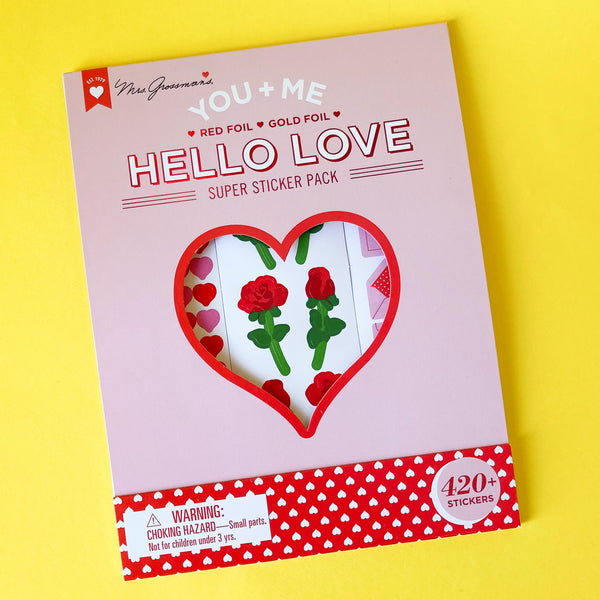 Hello Love: Valentines Collection Super Sticker Pack by Mrs. Grossman's