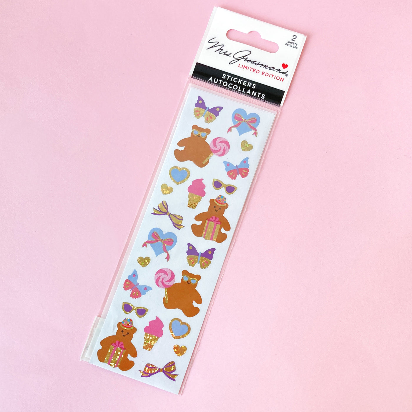 Party Bears Stickers by Mrs. Grossman's