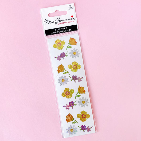 Vintage Flower Stickers by Mrs Grossman's