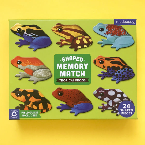 Tropical Frog Shaped Memory Match Game from Mudpuppy