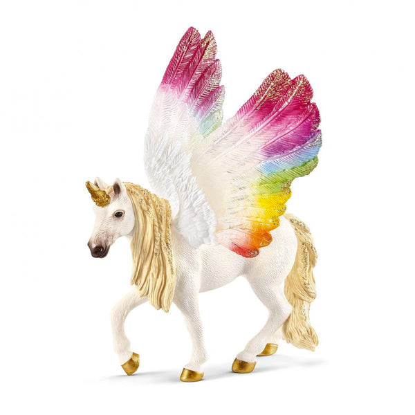 Schleich bayala Rainbow Winged Unicorn Mare Toy Figurine
