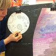 Virtual Art Class for kids based on Whose Moon is That Book