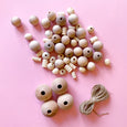 Wood Bead Garland Kit Natural