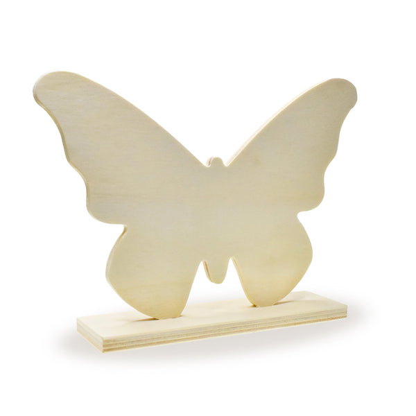 Wooden Paintable Standing Butterfly 7""
