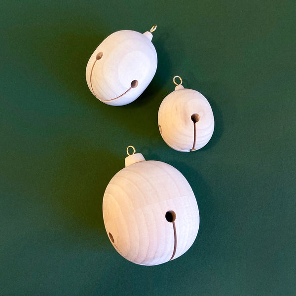 Wooden Paintable Jingle Bells