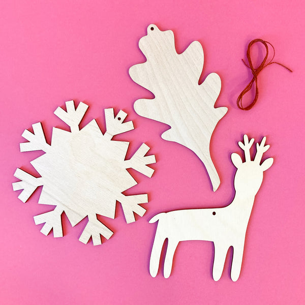 Woodland Ornaments Set of Three