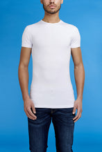 Afbeelding in Gallery-weergave laden, Garage Basic Bodyfit T-Shirt O-Neck in Wit