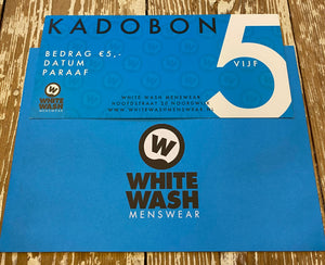 White Wash Menswear 5 Euro Kadobon
