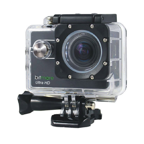 4K Interpolated HD UltraCam Waterproof Action Camera with Accessories - bitmore.co.uk