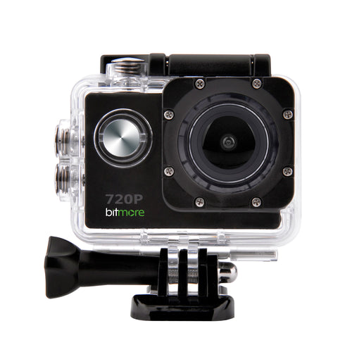 720P HD ActivCam Waterproof Action Camera with Accessories - bitmore.co.uk