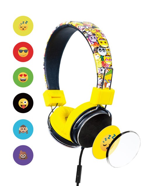 Bitmore® MoMoji™ Kids Wired Headphones (Kid Safe) - bitmore.co.uk
