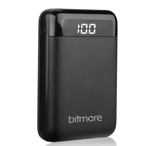 Bitmore® Digital Display 10,000mAh Power Bank with 3 in 1 cable - bitmore.co.uk
