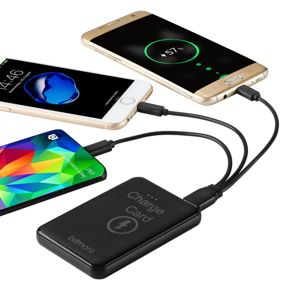 Bitmore® 5000mAh ChargeCard™ Power Bank with 3 in 1 cable - bitmore.co.uk