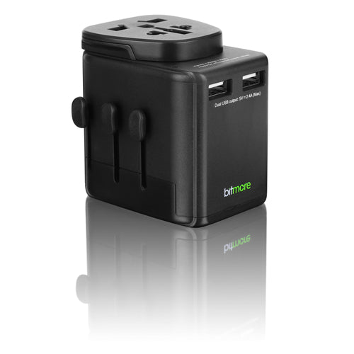 Bitmore® Universal Worldwide Travel Adapter with USB Ports - BS8546 Certified - bitmore.co.uk