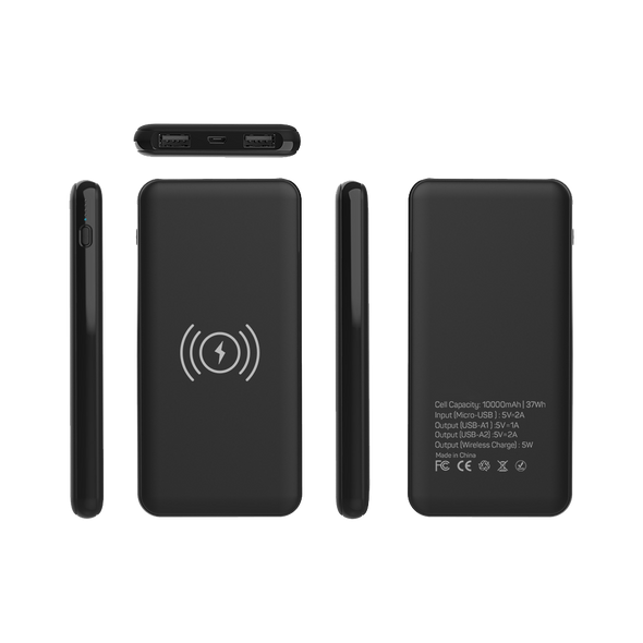 Juucee Pro™ QI 10,000mAh Wireless Power Bank - bitmore.co.uk
