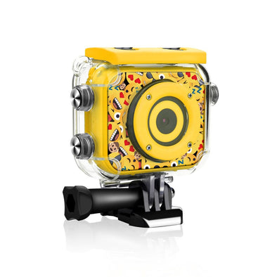 MoMoji 720 Kids Action Camera with 4 SD Card & Accessories - bitmore.co.uk