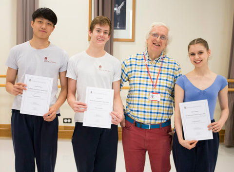 David Bain and the three RBS BA award winners