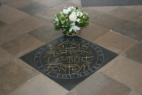 Memorial Stone to the founders of the Royal Ballet in Westminster Abbey