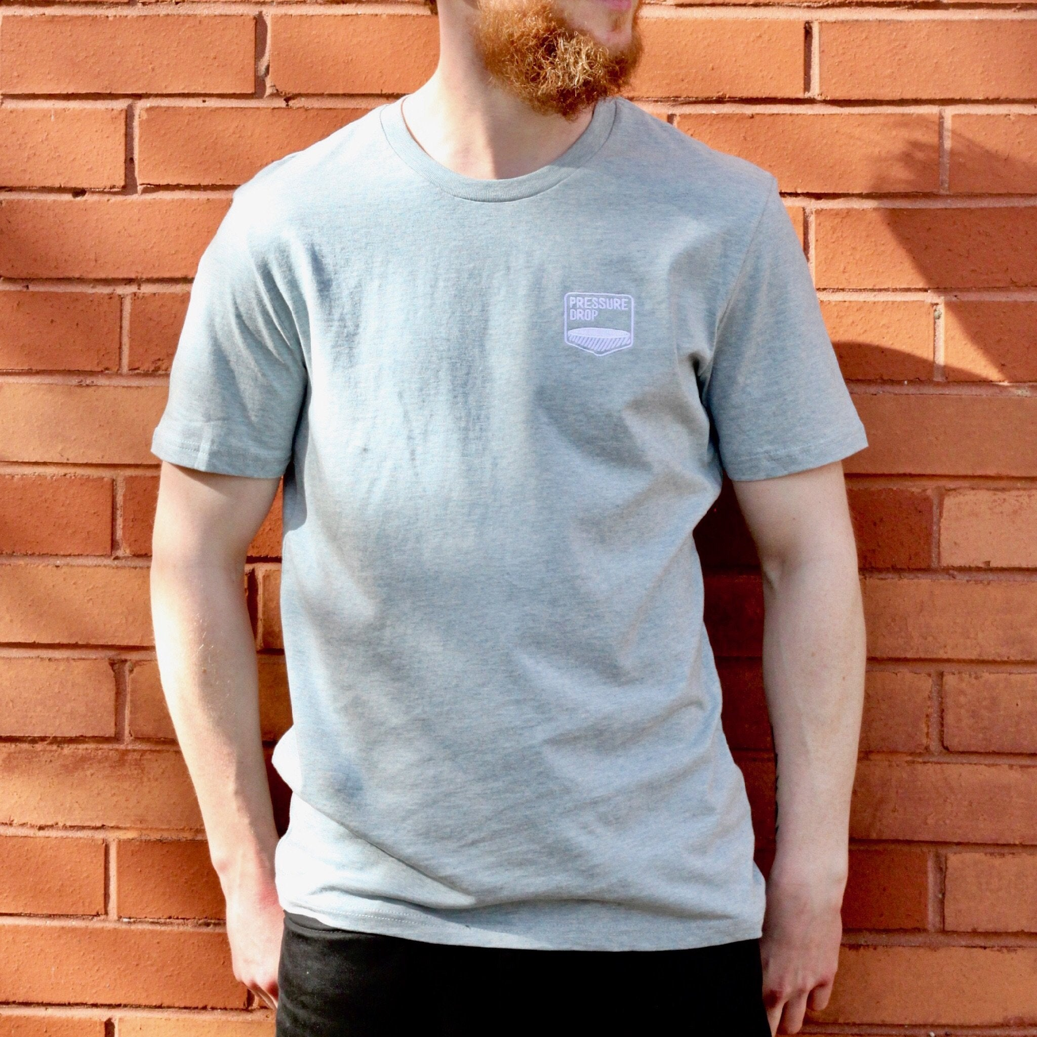 Ice Blue Embroidered Logo T-Shirt - T-Shirt