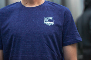 Mid Blue Embroidered Logo T-Shirt - T-Shirt
