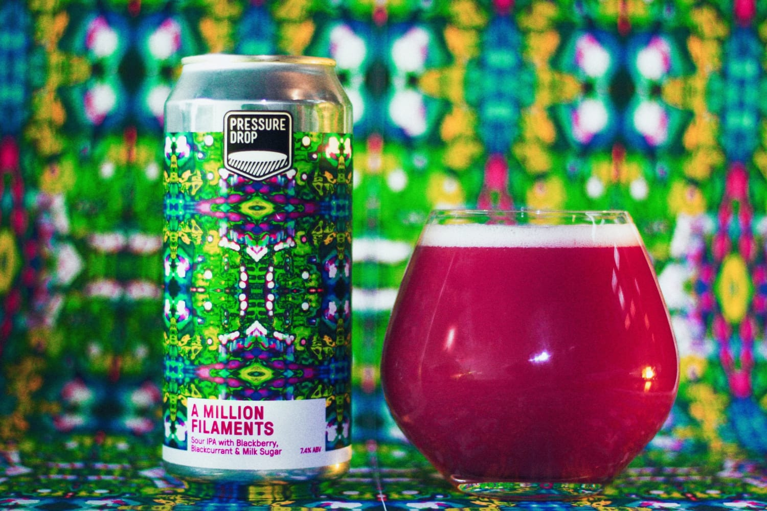 A Million Filaments 7.2% Sour IPA with Blackberry,