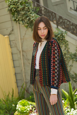 ace & jig summit cardi in fiesta
