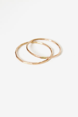 fiat lux rose gold solid half knuckle ring