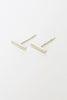 fiat lux rose sterling silver bar studs