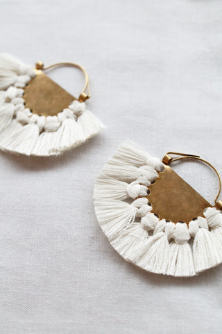 hazel cox lunar earrings in bone
