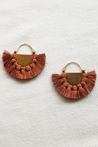 hazel cox lunar earrings in rust