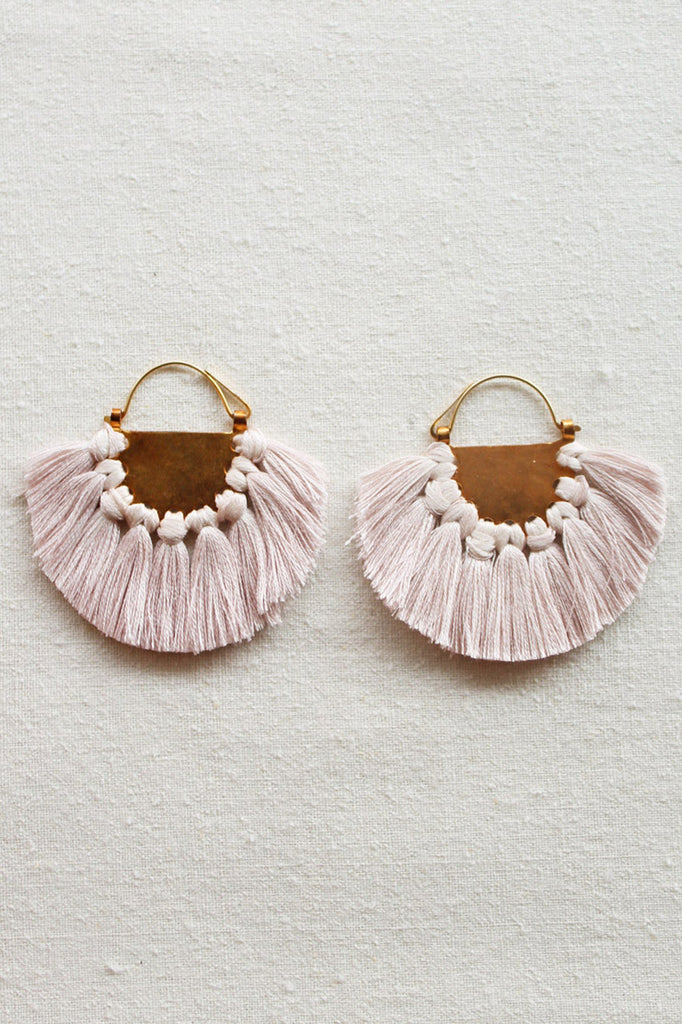 hazel cox solar earrings in oyster