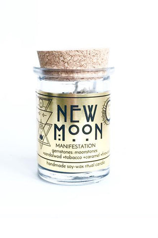 little shop of oils new moon ritual candle