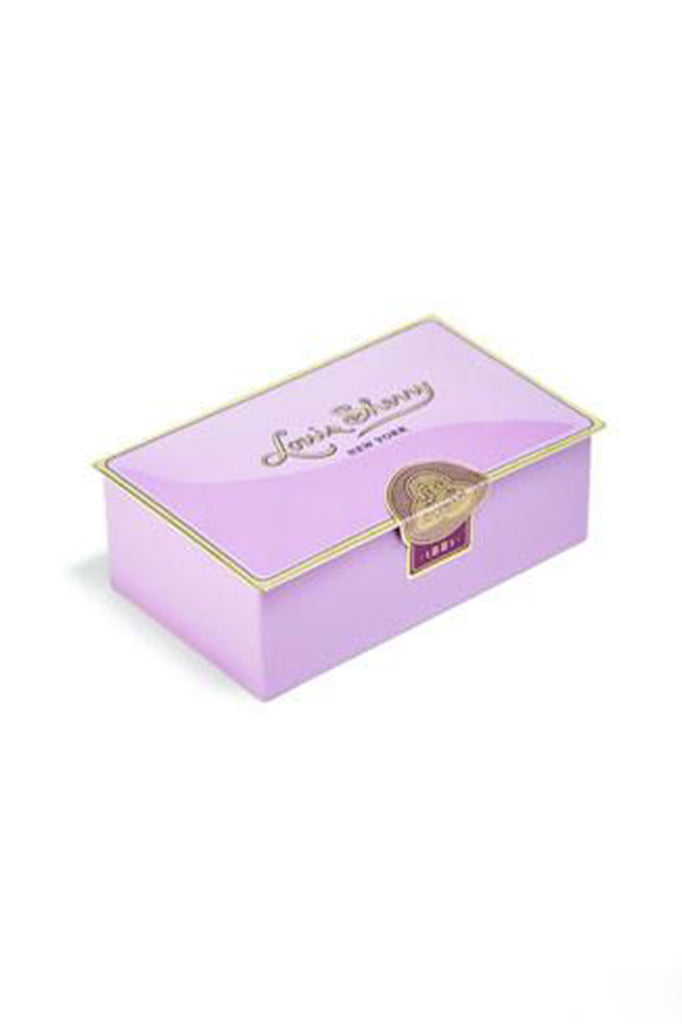 louis sherry 2 piece chocolate tin in amethyst