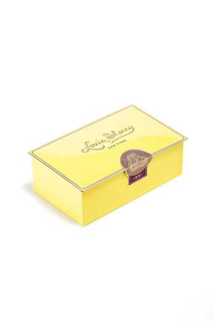louis sherry 2 piece chocolate tin in canary