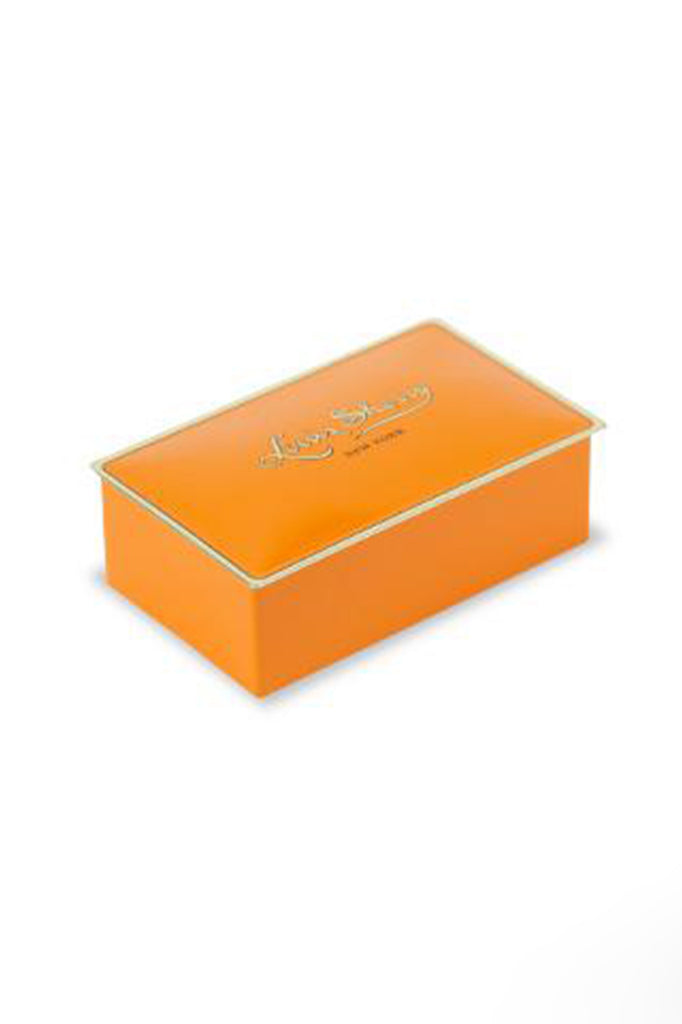 louis sherry 2 piece chocolate tin in tangerine