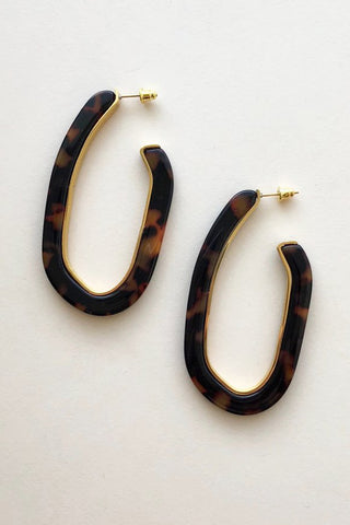 machete margot lux hoop earring in tortoise