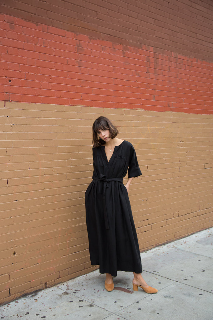 mara hoffman harriet dress in black