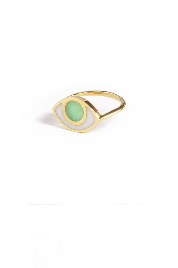 marta pia third eye gold ring with jade