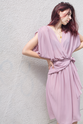 mercy vintage lilac plunge dress