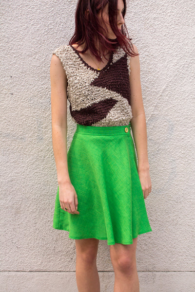 mercy vintage lime green skirt