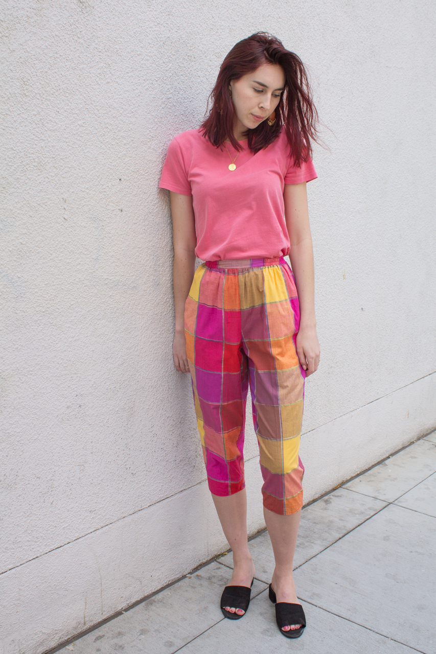 mercy vintage madras cotton pants