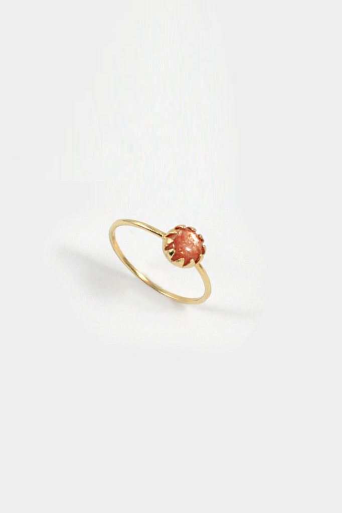 merewif moon ray ring in sunstone
