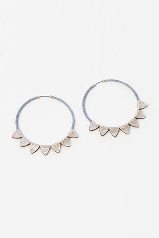 molly m designs large leather hoops