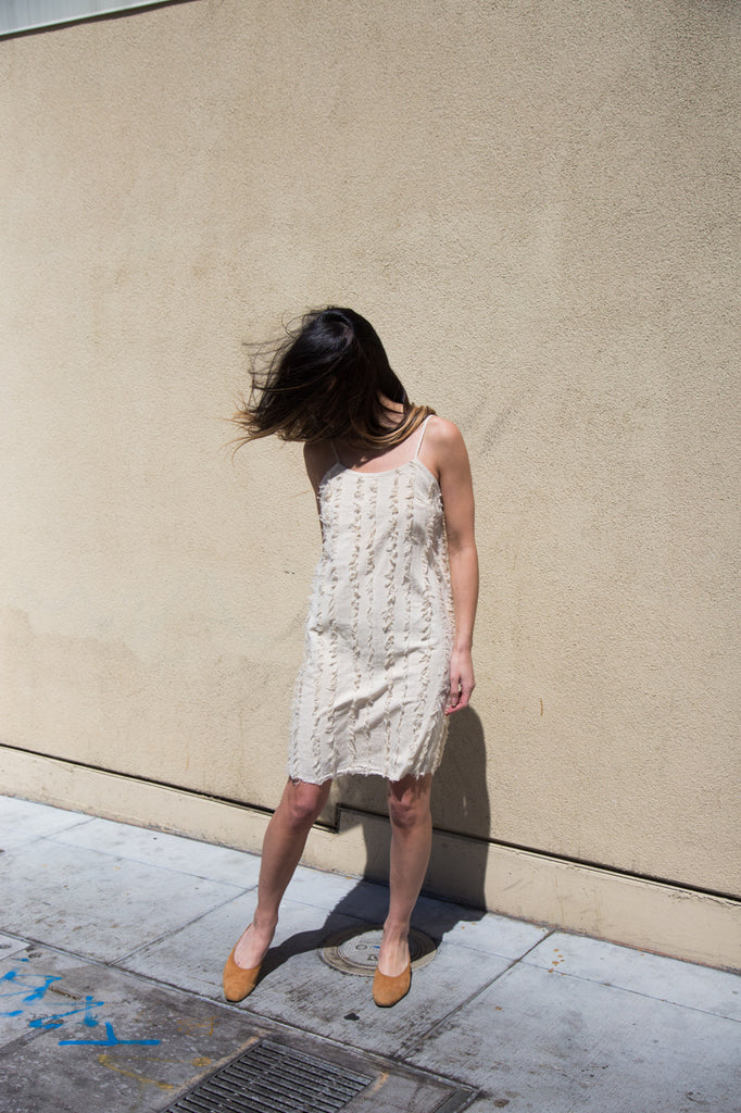 nico nico rowena striped dress in natural
