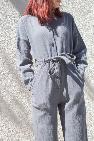 nico nico quilted jumpsuit in storm