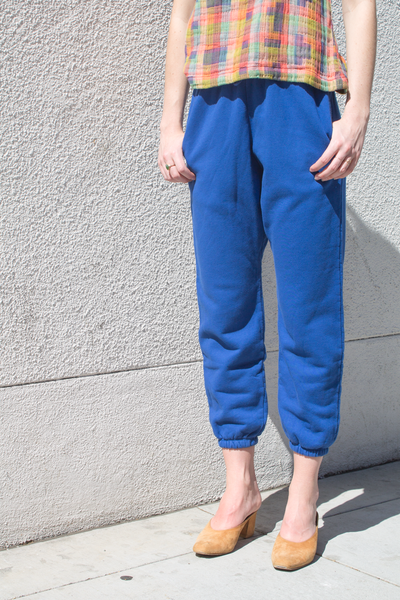 nico nico simon fleece pant in blue